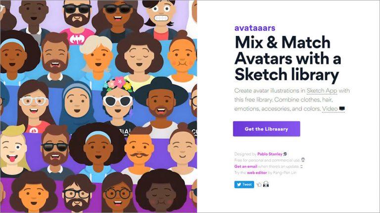 Avataaars – Бесплатная библиотека пользовательских фото иллюстраций для Sketch