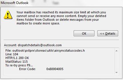 Файл данных Outlook достиг максимального размера: проверенная методология