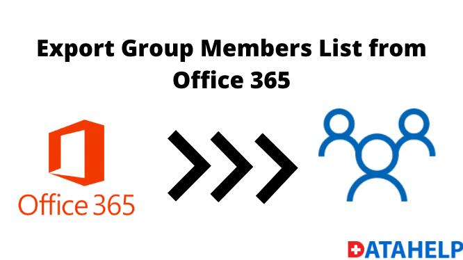 Решения для экспорта списка участников группы из Office 365