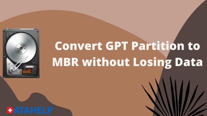 Различные способы преобразования раздела GPT в MBR без потери данных