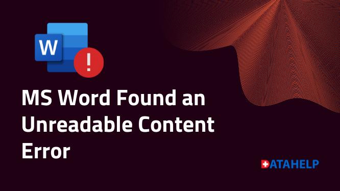 MS Word обнаружил ошибку нечитаемого содержимого (проблема решена)